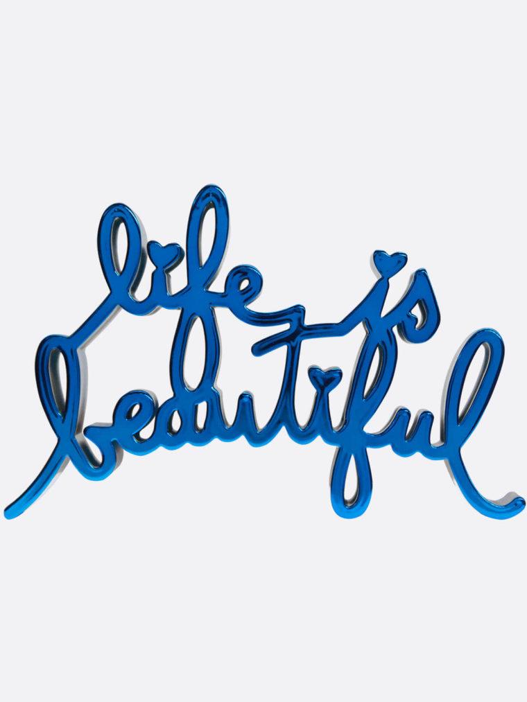 Mr.Brainwash-Life-is-beautiful-8667-MiniLIBMetallic-Blue