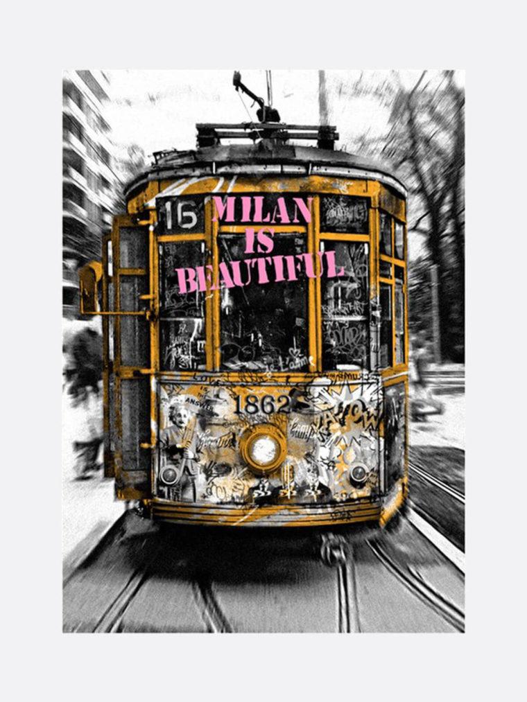 Mr.Brainwash-Life-is-beautiful-Tram-Pink-silkscreen-edition-print-on-paper-2019-1
