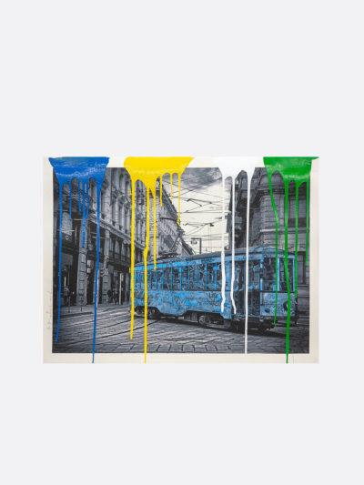 Mr.Brainwash-Life-is-beautiful-Tram-blu