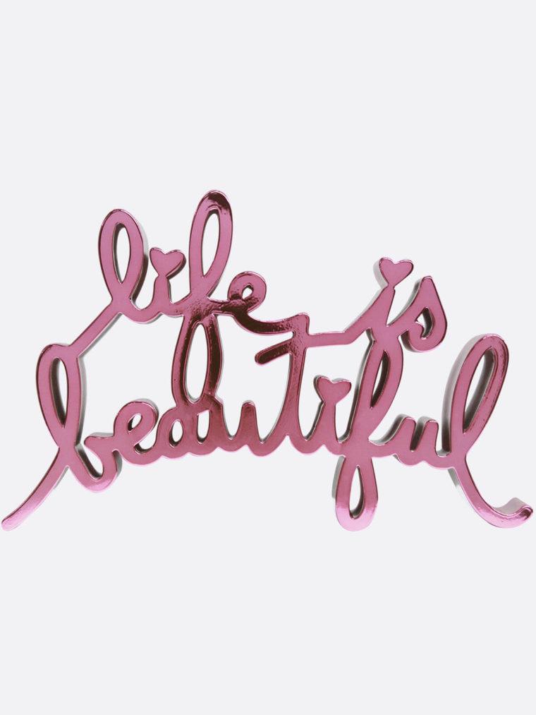 Mr.Brainwash-Life-is-beautiful8658-MiniLIBMetallic-Pink
