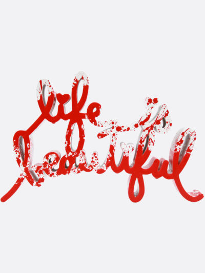 Mr.Brainwash-Life-is-beautiful-Red-Splash-Edition-Acrylic-on-cast-resin-sculpture-14x22x4cm-2018