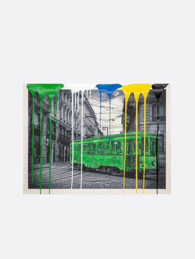 Mr.Brainwash-Life-is-beautiful-Tram-green