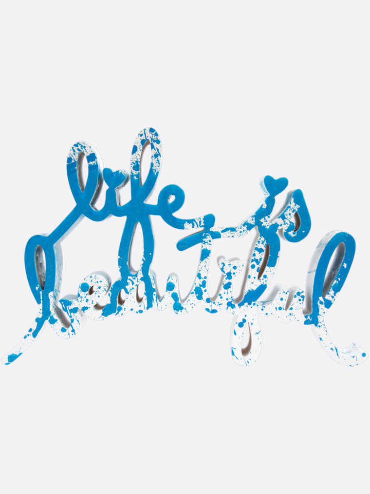 Life Is Beautiful Blue Splash