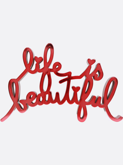 Mr.Brainwash-Life-is-beautiful-8661-MiniLIBMetallic-Red