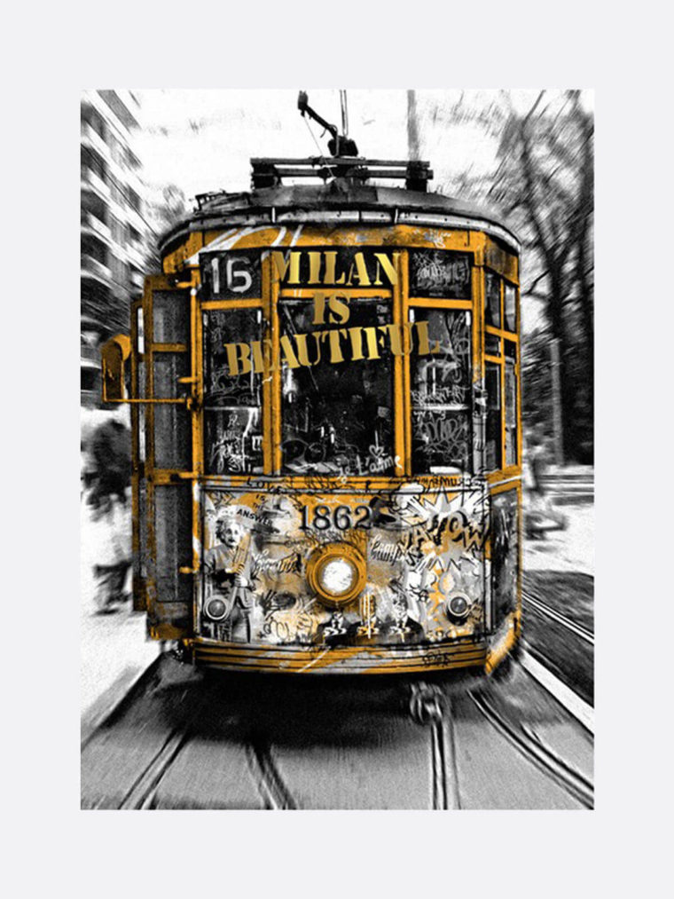 Mr.Brainwash-Life-is-beautiful-Tram-Gold-silkscreen-edition-print-on-paper-2019-1