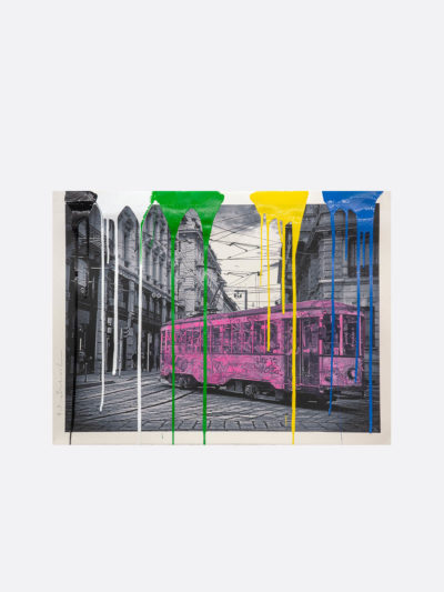 Mr.Brainwash-Life-is-beautiful-Tram-pink