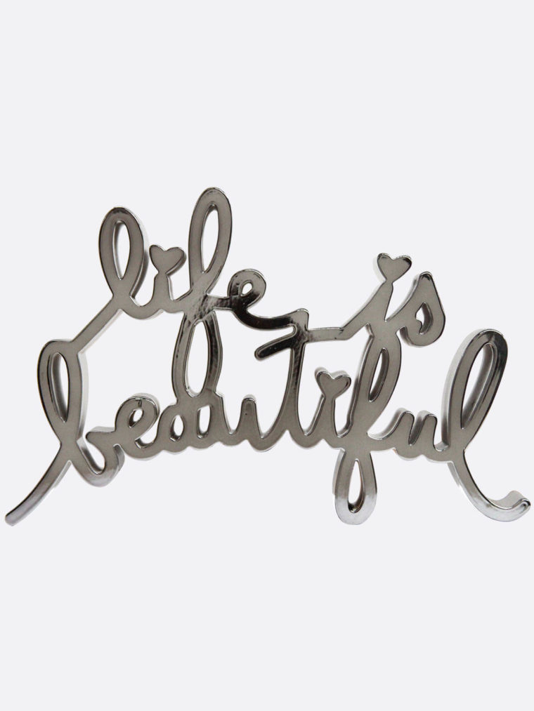 Mr.Brainwash-Life-is-beautiful-black8655-MiniLIBMetallic-Silver